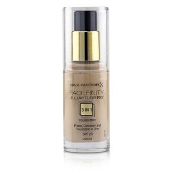 Max Factor Face Finity All Day Flawless 3 in 1 Foundation SPF20 - #60 Sand 30ml/1oz Make Up