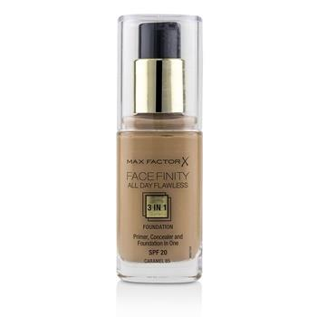 Max Factor Face Finity All Day Flawless 3 in 1 Foundation SPF20 - #85 Caramel 30ml/1oz Make Up