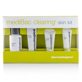 Dermalogica MediBac Clearing Skin Kit: Clearing Skin Wash + Sebum Clearing Masque + Overnight Clearing Gel + Oil Control Lotion 4pcs Skincare