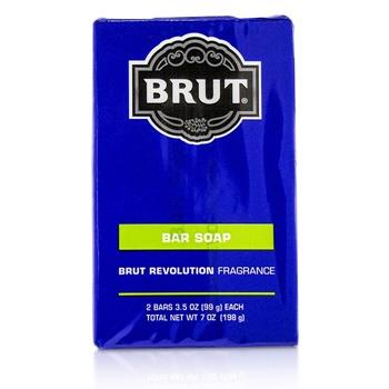 Faberge Brut Revolution Bar Soap 2x99g/3.5oz Men's Fragrance