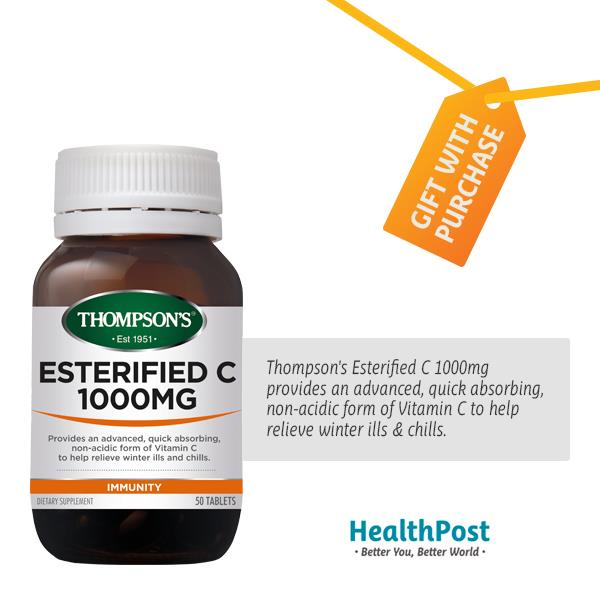 Thompson's Esterified C 1000mg – Freebie 50 tablets