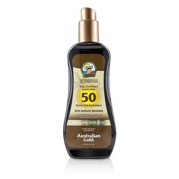Australian Gold Spray Gel Sunscreen Broad Spectrum SPF 50 with Instant Bronzer – #1 Fragrance 237ml/8oz Skincare