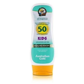 Australian Gold Lotion Sunscreen Broad Spectrum SPF 50 with Soothing Aloe Vera – For Kids 237ml/8oz Skincare