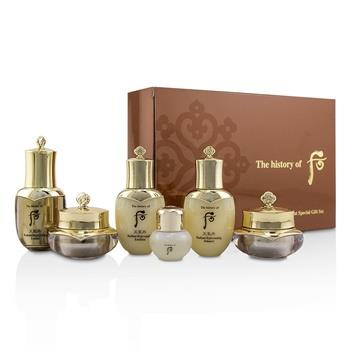 Whoo (The History Of Whoo) Cheongidan Radiant Special Gift Set: Balancer + Emulsion + Cream + Eye Cream + Essence + Ginseng Facial Oil 6pcs Skincare