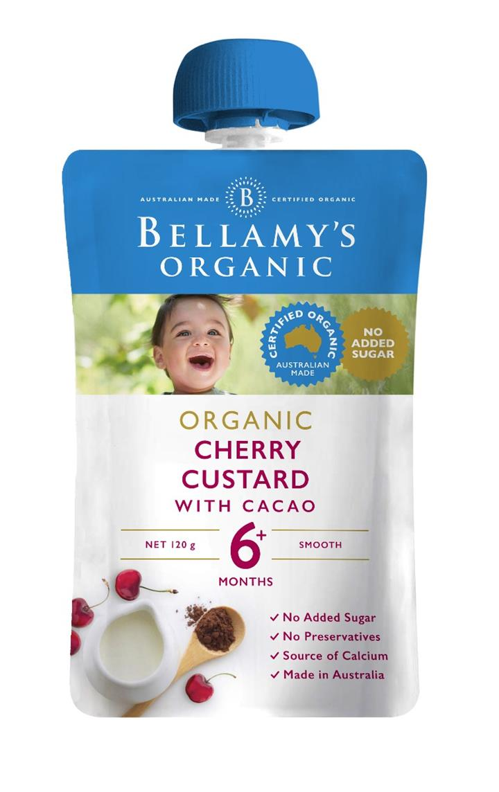 Bellamy's Organic Cherry Custard with Cacao 120g