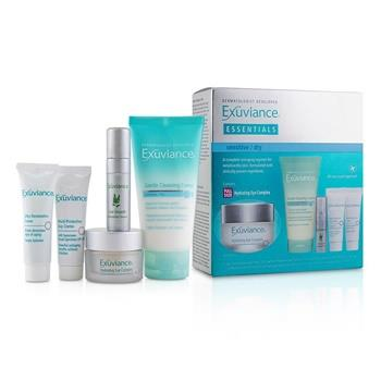 Exuviance Essentials Kit(Sensitive/ Dry):Cleansing Creme+Eye Complex+Day Creme+Restorative Creme+Antioxiant Serum (Box Slightly Damaged) 5pcs Skincare