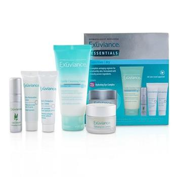 Exuviance Essentials Kit (Normal/ Combination): Cleansing Gel + Eye Complex + Masque + Evening Complex + Perfect 10 Serum (Box Slightly Damaged) 5pcs Skincare