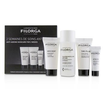 Filorga Anti-Ageing Skincare For 2 Weeks Set: Meso-Mask + Time-Filler + Optim Eyes + Solution Micellaire Anti-Age Make-up Remover 4pcs Skincare