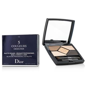 Christian Dior 5 Color Designer All In One Professional Eye Palette – No. 708 Amber Design 5.7g/0.2oz Make Up