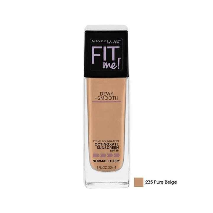 Maybelline Fit Me Foundation Dewy + Smooth SPF 18 235 Pure Beige 30ml