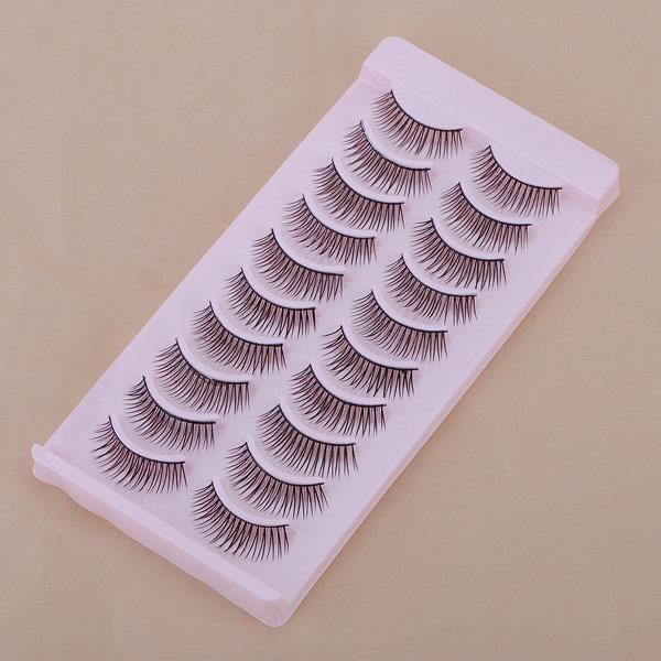 10 Pairs Natural False Eyelashes Eye Lash Makeup 043