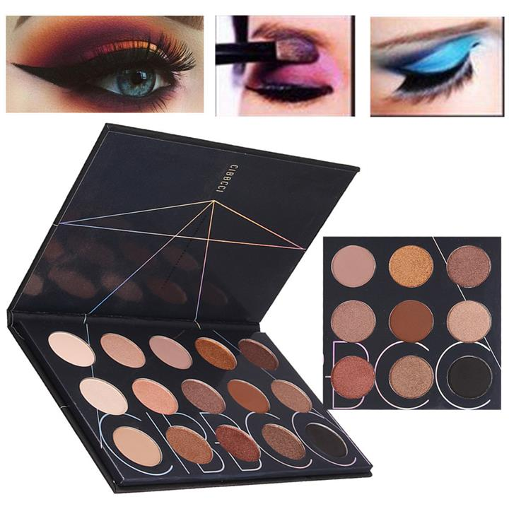 15 Colors Matte Shimmer Eyeshadow Makeup Cosmetic Eye Shadow Palette