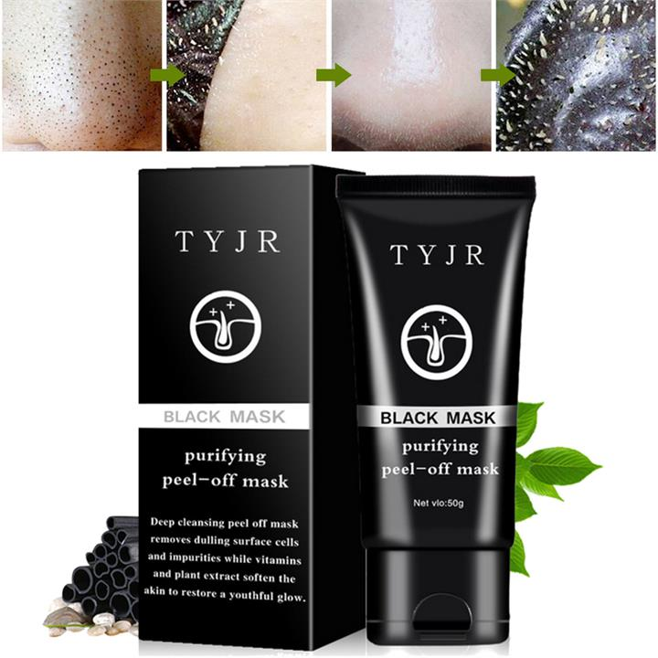 TYJR Black Mask Blackhead Removal Peel-off Masks Purifying Sucking Pores Nose Clear Dirty