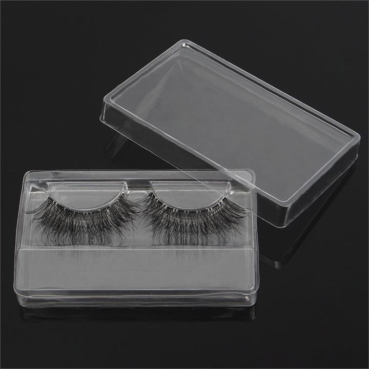 1Pc False Eyelashes Box Clear Transparent Reusable Portable Eye Lash Packing Boxes