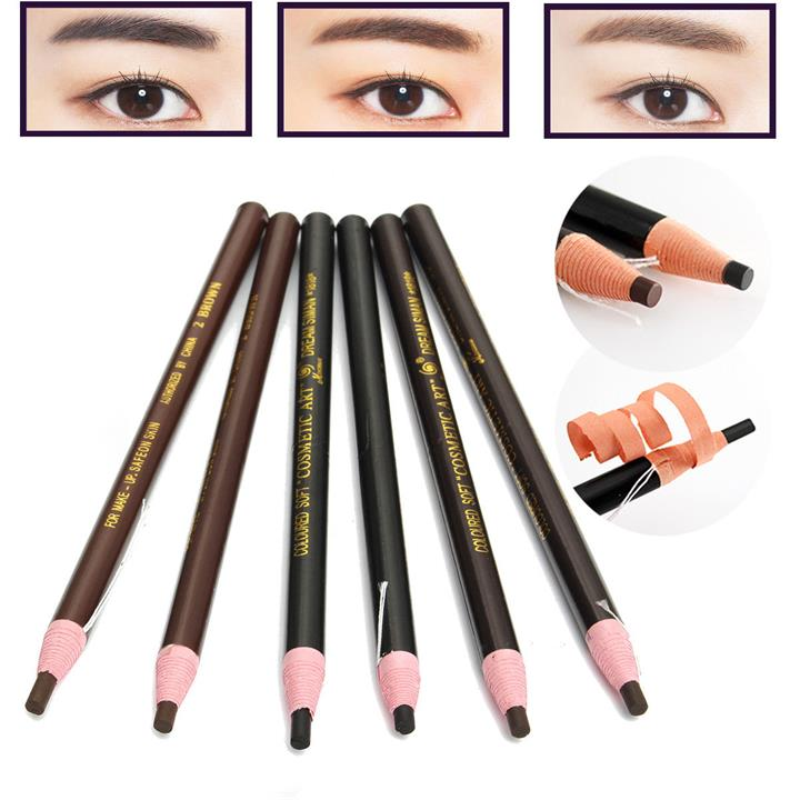 12Pcs/Set Eyebrow Pencil Eyeliner Cosmetic Permanent Makeup Waterproof Tattoo