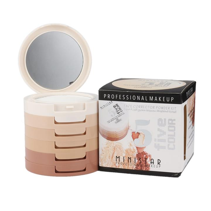 5 In 1 Soft Pressed Makeup Concealer Stereo Bare Natural Powder Lasting Waterproof Cosmetics