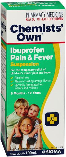 Chemists' Own Ibuprofen Pain & Fever Suspension 100ml (Generic for NUROFEN)