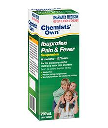 Chemists' Own Ibuprofen Pain & Fever Suspension 200ml (Generic for NUROFEN)