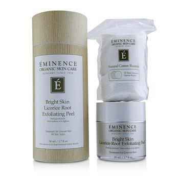 Eminence Bright Skin Licorice Root Exfoliating Peel (with 35 Dual-Textured Cotton Rounds) 50ml/1.7oz Skincare