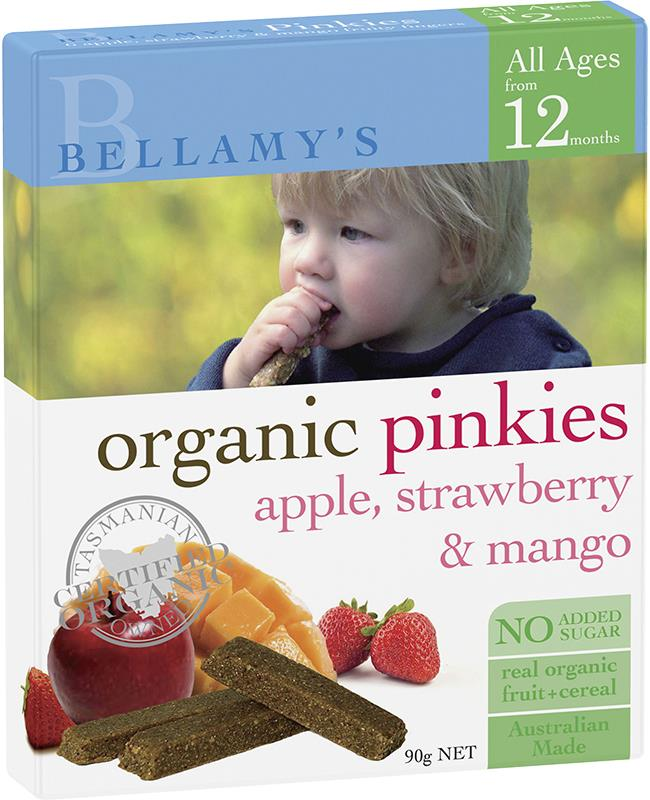 Bellamy's Organic Pinkies Apple Strawberry & Mango 90g