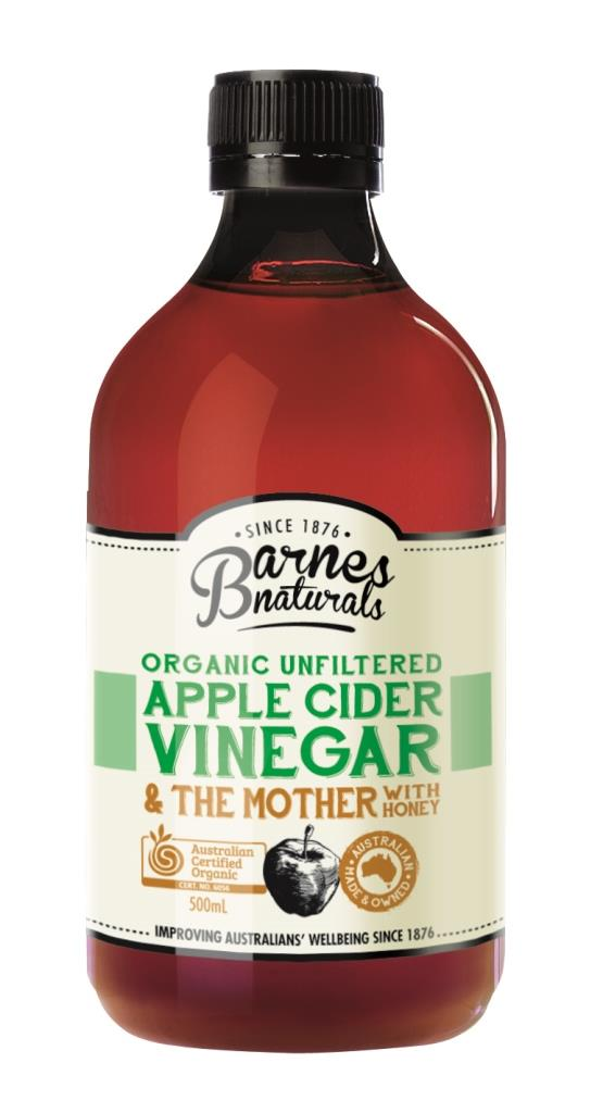 Barnes Naturals Organic Vinegar with The Mother & Honey 500ml