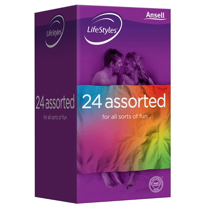 Ansell Condoms Lifestyles Assorted X 24
