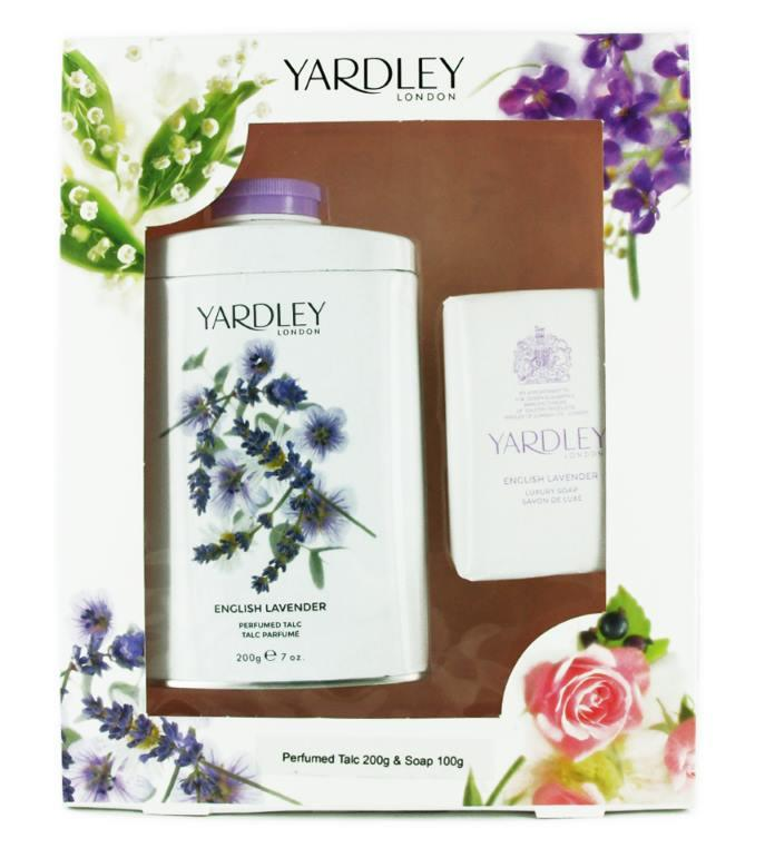 Yardley English Lavender Gift Set Talc 200g + Soap 100g
