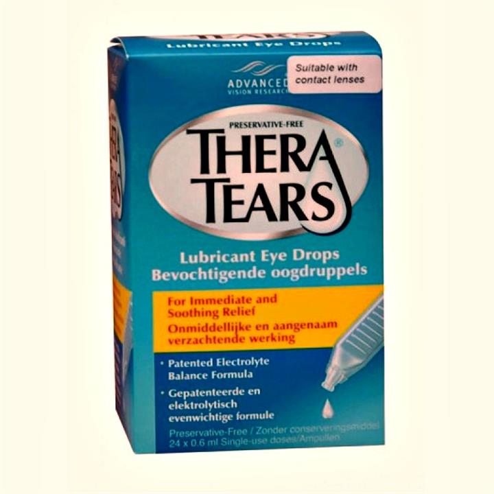 Thera Tears Lubricant Eye Drops X 24 Single Use Containers