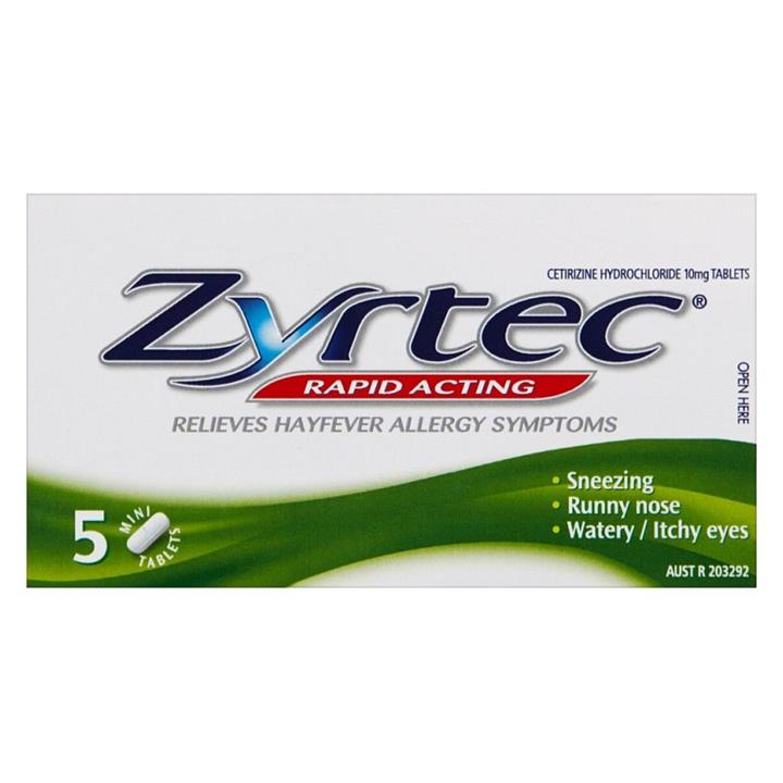 FREE Zyrtec Rapid Acting 10mg Tabs X 5 (Max 1 per order)