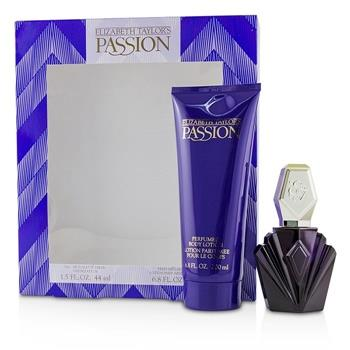 Elizabeth Taylor Passion Coffret: Eau De Toilette Spray 44ml/1.5oz + Perfumed Body Lotion 200ml/6.8oz 2pcs Ladies Fragrance
