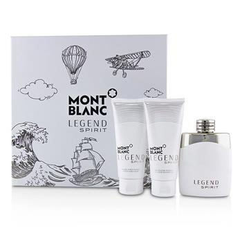 Montblanc Legend Spirit Coffret: Eau De Toilette Spray 100ml/3.3oz + After-Shave Balm 100ml/3.3oz + All-Over Shower Gel 100ml/3.3oz 3pcs Men's Fragrance