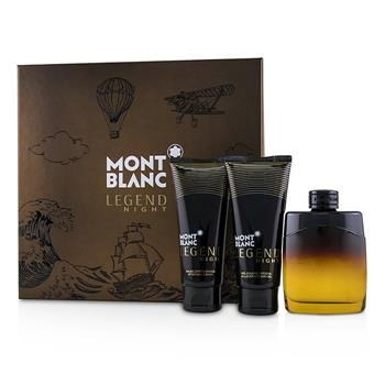Montblanc Legend Night: Eau De Parfum Spray 100ml/3.3oz + After-Shave Balm 100ml/3.3oz + All-Over Shower Gel 100ml/3.3oz 3pcs Men's Fragrance