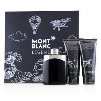 Montblanc Legend Coffret: Eau De Toilette Spray 100ml/3.3oz + After Shave Balm 100ml/3.3oz + All-Over Shower Gel 100ml/3.3oz 3pcs Men's Fragrance