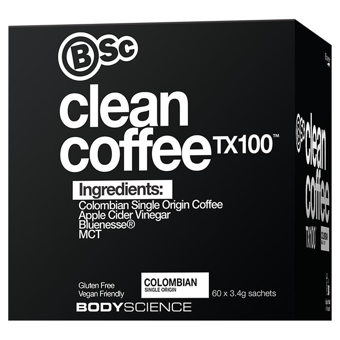 Body Science BSc Clean Coffee TX100 60 x 3.4g Sachets