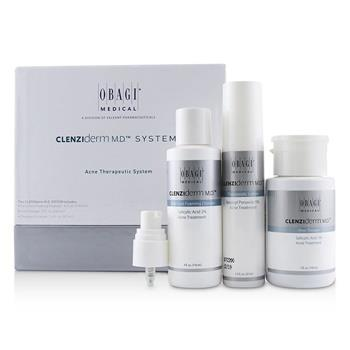 Obagi Clenziderm M.D. Acne Therapeutic System: Cleanser 118ml + Pore Therapy 148ml + Therapeutic Lotion 47ml 3pcs Skincare