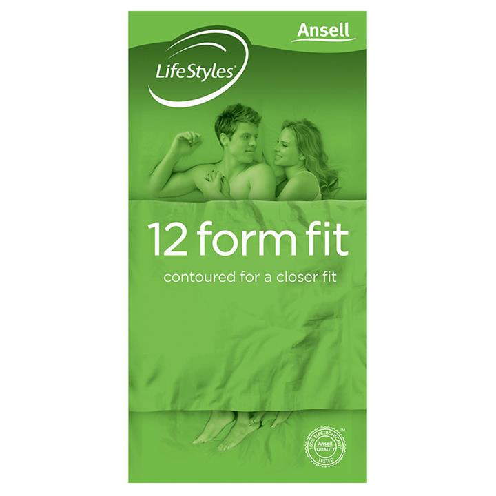 Ansell Condoms Lifestyles Form Fit X 12
