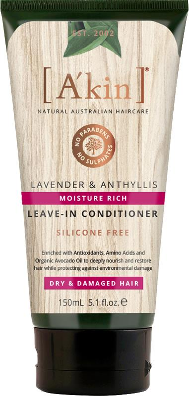 A'kin Leave-In Conditioner For Dry & Damaged Hair Lavender & Anthyllis 150ml