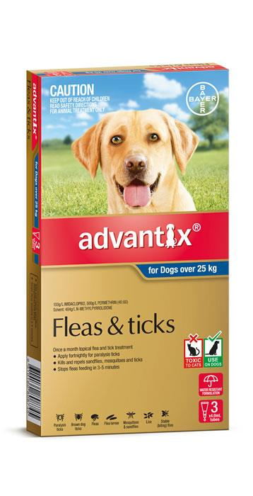 Advantix For Extra Large Dogs (Over 25kg) – 3 Pack