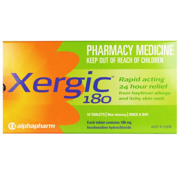 Xergic 180 Tab X 10 (Generic For TELFAST) – Expiry Aug 2016