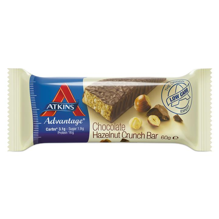 Atkins Advantage Chocolate Hazelnut Crunch Bars 60g X 15