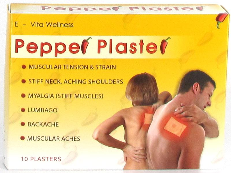 Pepper Plaster For Pain Relief X 10