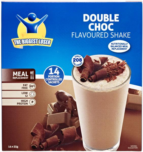 Biggest Loser Shakes Double Chocolate 55g X 14