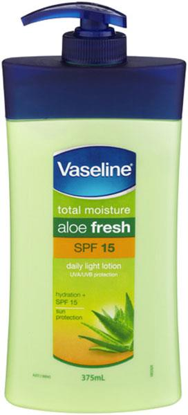 Vaseline Aloe Fresh Lotion with SPF15 375ml