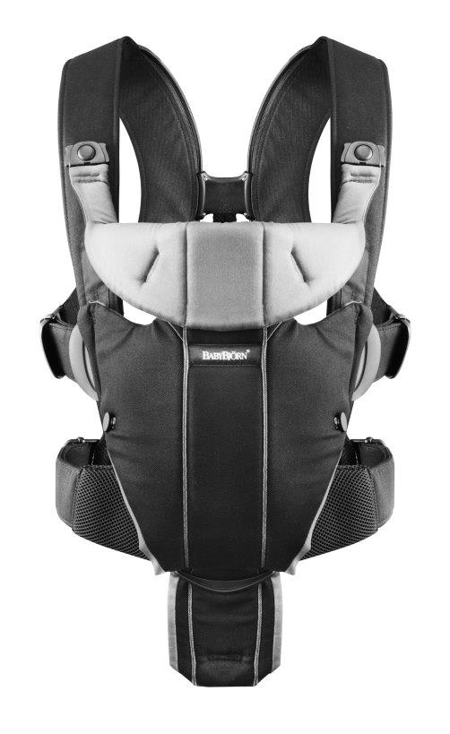 BabyBjorn Baby Carrier Miracle – Black/Silver Cotton Mix