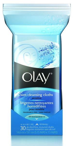 Olay Deep Cleansing Wet Cleansing Cloths Sensitive X 30