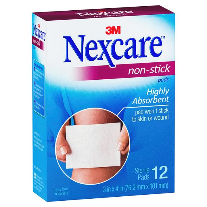 Nexcare Non-Stick Pads 76.2mm X 101mm (Large) X 12