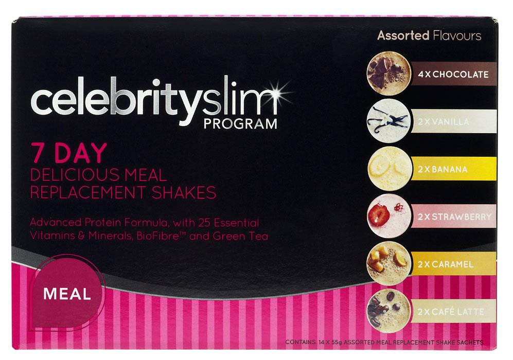 Celebrity Slim Shake 7 Day Assorted Pack (Best Before 10/17)