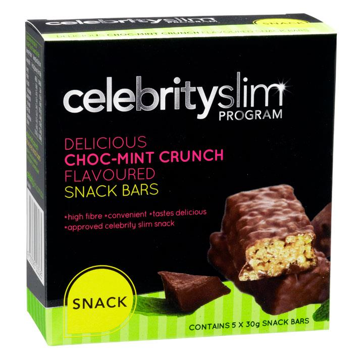 Celebrity Slim Snack Bar Choc Mint 30g X 5