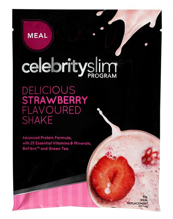 Celebrity Slim Shake Sachet Strawberry 55g X 12
