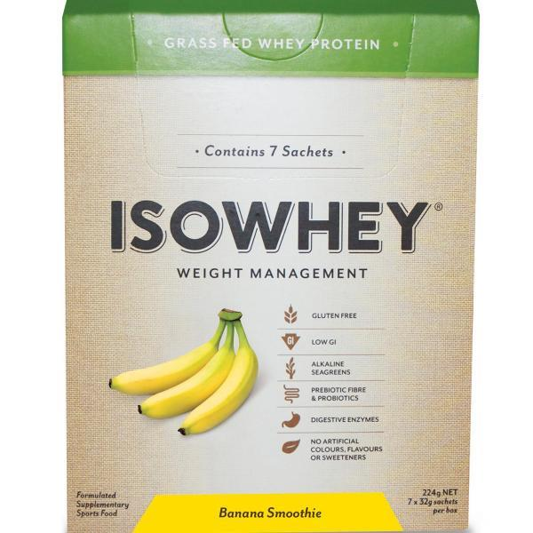 IsoWhey Complete Weight Loss – Banana Smoothie Sachets 32g X 7